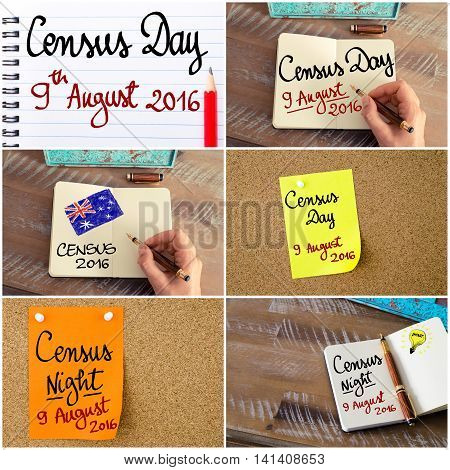 Photo Collage Of Census Day 9 August 2016, Australia Concept Images