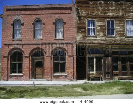 Old Buildings At Bodie Ghost Town