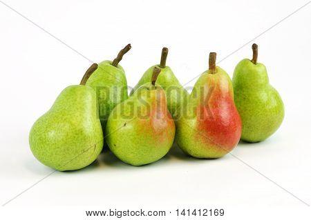 fresh Bartlett pears isolated on white background
