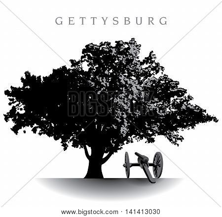 Spectacular ancient tree atop Devil's Den on the Gettysburg Battlefield