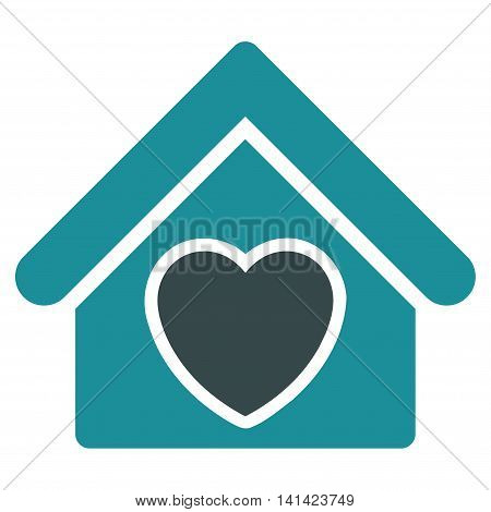 Hospice vector icon. Style is bicolor flat symbol, soft blue colors, rounded angles, white background.