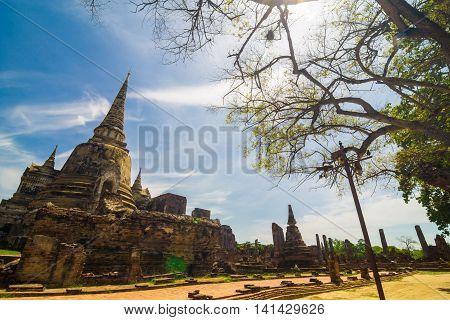 Wat Prasrisanphet, Ayuthaya History Park Blue Sky