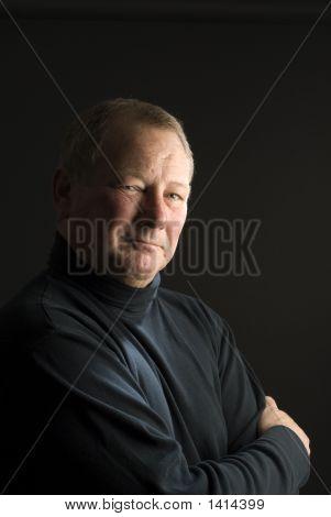 Serious Thinking Man Senior Business Executive