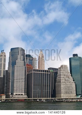 View of the New York city from the river