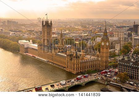Big Ben And Houses Of Parliament, London, Uk..