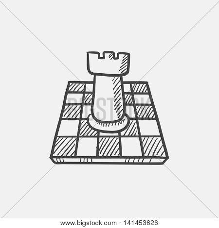 Chess sketch icon for web, mobile and infographics. Hand drawn vector isolated icon.