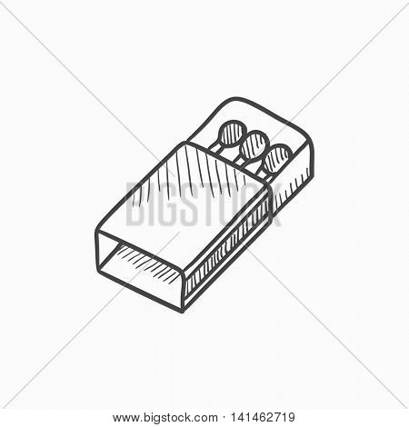 Matchbox vector sketch icon isolated on background. Hand drawn Matchbox icon. Matchbox sketch icon for infographic, website or app.
