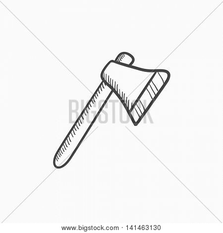 Ax vector sketch icon isolated on background. Hand drawn Ax icon. Ax sketch icon for infographic, website or app.