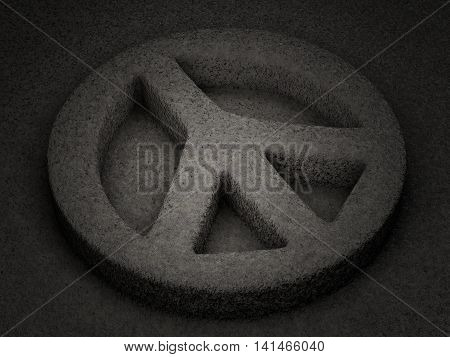 Stone Peace Symbol