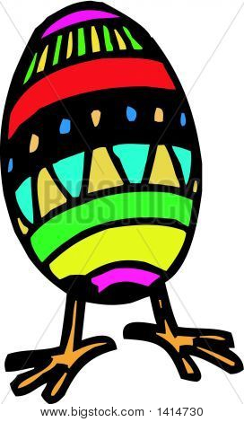 Vectorial image of a coloured Easter egg poster