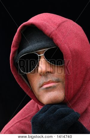 Homeless Man In The Cold - A Portrait