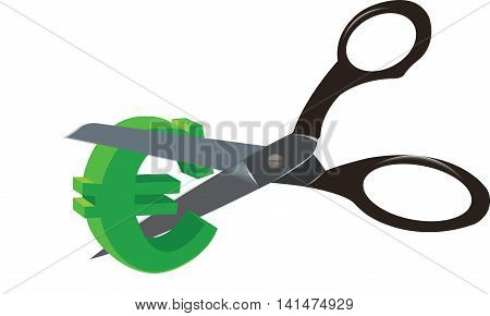 business crisis currency cut cutting scissors currency economy crisis business
