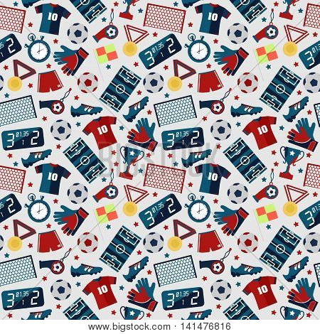 Sport football seamless pattern vector illustration on white