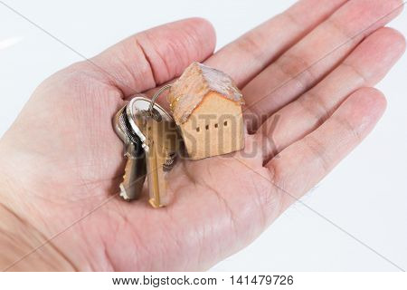 House and keyring invesment and realestate cconcept