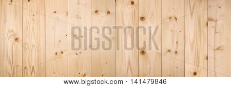 Plain Light Pine Wood texture panorama background.