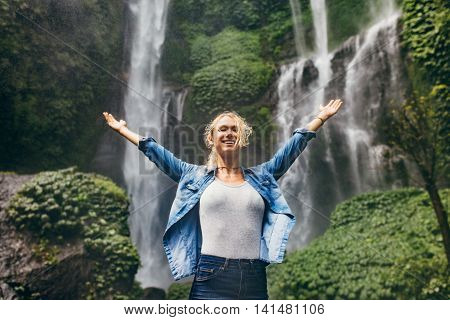 Young Woman Enjoying The Nature