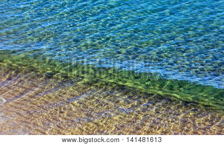 Sea Water Surface Background.