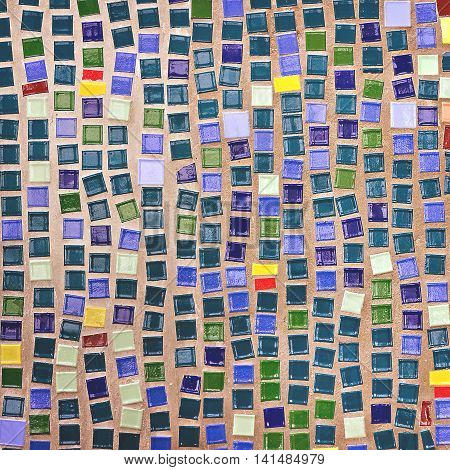 the pattern of colorful mosaic as background