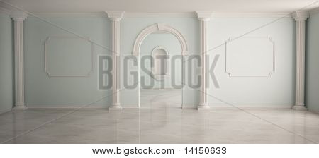 Interior in classical style