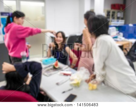 Vaccination Against Flu To Employees. Injection By Nurses.