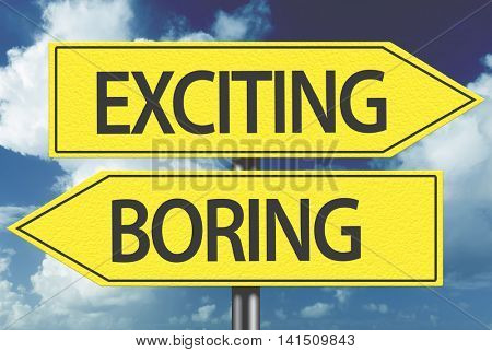 Exciting x Boring yellow