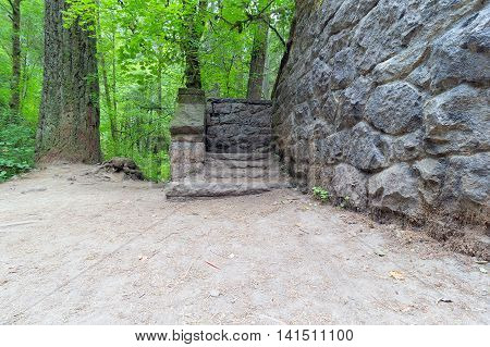 Stone House Steps at Wildwood Trail in Portland Oregon