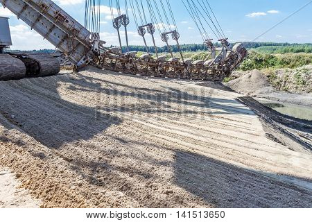 multibucket excavator elements, giant stacker, absetzer details