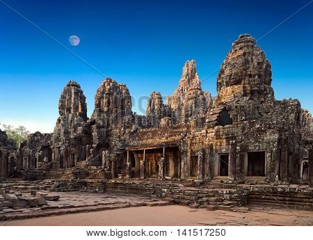 Temple Ruined Bayon, Angkor, Cambodia