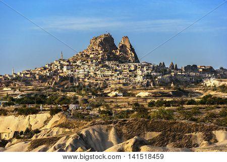Aerial Photo Of The Cappadocia Topography.