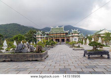 Asia Guanyin Buddha temple near Danang City Vietnam