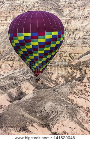 Aerial Photo Of An Air Balloon On Cappadocia
