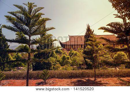 Thien Vien Truc Lam Monastery Dalat. Vietnam.