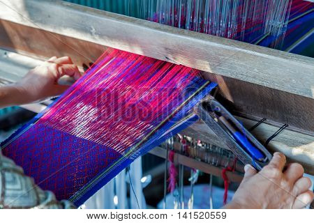 Weaves With An Old Loom Handcraft Rug