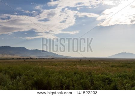 Steppe Before The Mountains
