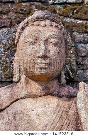 Ancient Buddha Ruins In Polonnaruwa City Temple Unesco
