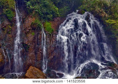 Waterfall Tien Sa Falls In Sapa Vietnam