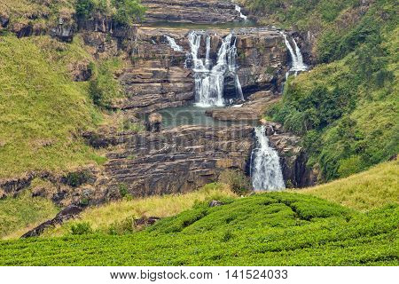 St. Clairs Water Falls Little Niagara Of Sri Lanka Waterfall