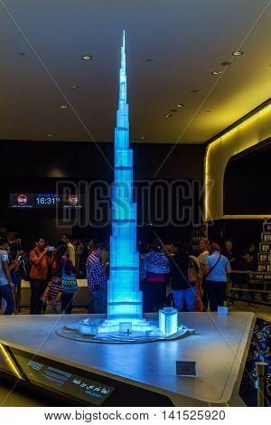 Interior Dubai The Burj Khalifa, Uae.