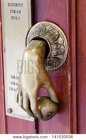 Hand Bell Door
