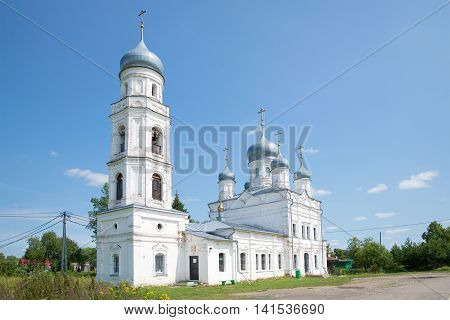 The old Church of the Holy Trinity in Trinity Sloboda. Pereslavl-Zalessky, Russia