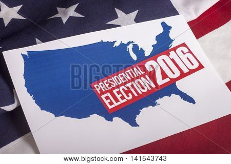 Presidential Election Vote 2016 and American Flag