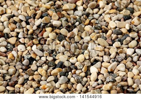 Gravel. Close up of many gravel stones for background