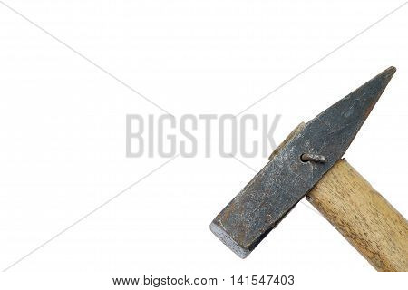 Close Up Of A Hammer Head On White Background