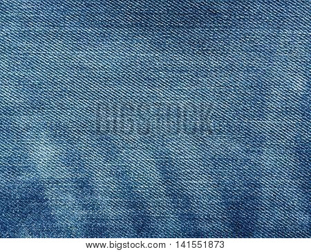 Abstract Blue Color Jeans Texture.