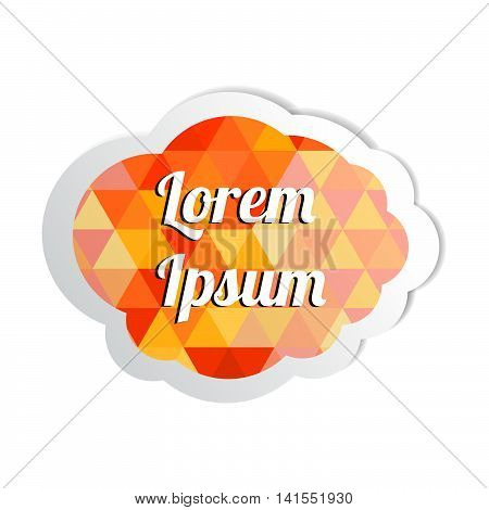 Round white paper sticker with shadow. Baner sticker. Vector colorful sticker. Paper label. Color sticker peel on a white background.