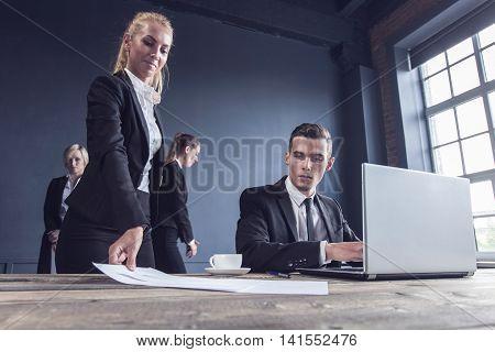 Business man getting extra work deadline concept