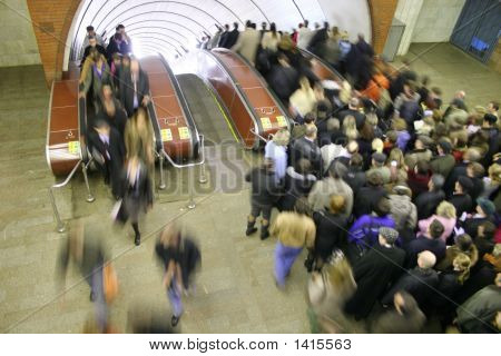 Crowds In The Subway