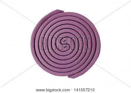 mosquito coil on white background ,anti insect