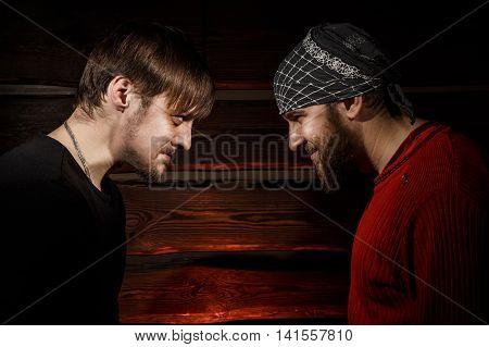 Confrontation. Conceptual Picture.