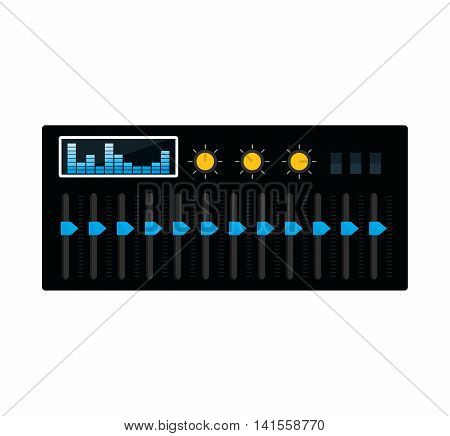 equalizer music sound dj melody icon. Isolated and flat illustration. Vector graphic